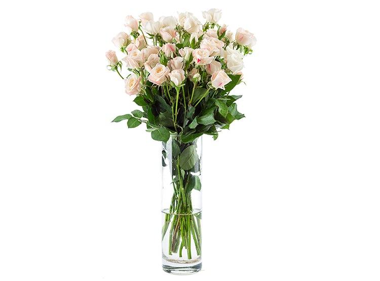 Ripley Arreglo 10 Mini Rosa Blanca Florero Flores De Ocoa
