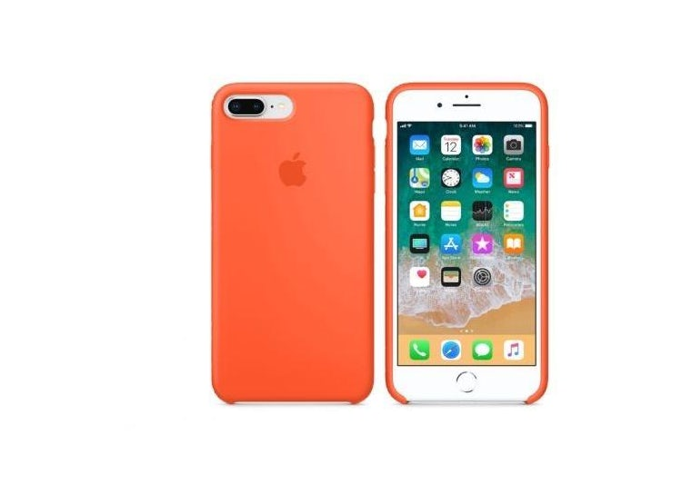 83a05235359 TECH21. CARCASA FUNDA DE SILICONA IPHONE 7 PLUS Y 8 PLUS NARANJA. $28.990;  $19.990