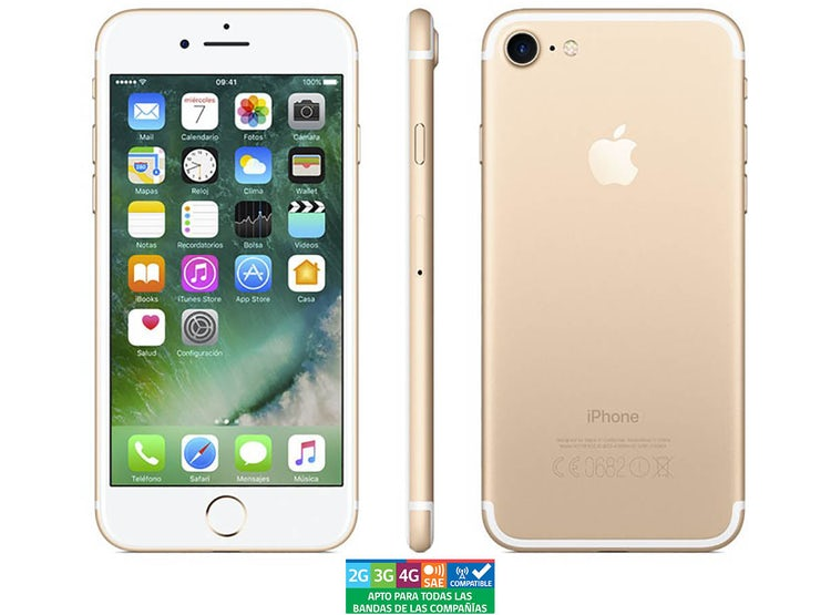 3069483fb26 APPLE IPHONE 7 32GB DORADO REACONDICIONADO - GARANTÍA 13 MESES