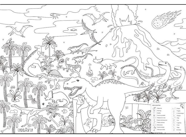 Ripley Poster Gigante Era De Los Dinosaurios Para Colorear Colorear es el primer paso para la estimulación creativa. poster gigante era de los dinosaurios para colorear