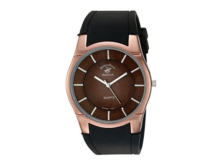 Ripley Us Beverly Hills Polo Club Metal Y Hule Reloj Casual De Cuarzo De Los Hombres Color Negro Modelo 52579