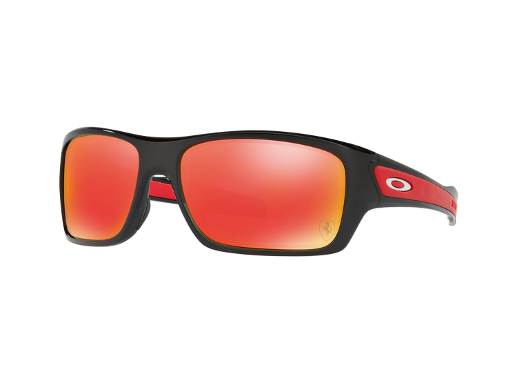 e0f4b70082 OAKLEY TURBINE ED. ESPECIAL FERRARI POLISHED BLACK LENTE RUBY IRIDIUM