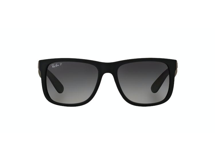 Ripley - Ray Ban Justin Black Rubber lente Grey Gradient Polarized e672dfb9c9ce
