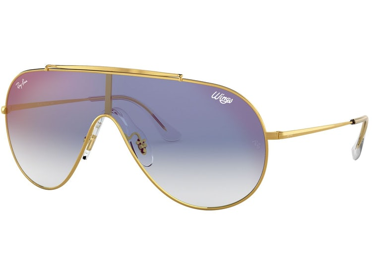 bfd7775a45 Ripley - Ray Ban Wings Gold lente Blue Mirror red