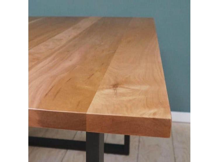 Mesa comedor madera lenga y fierro 160x80 | DE PIES A CABEZA STORE