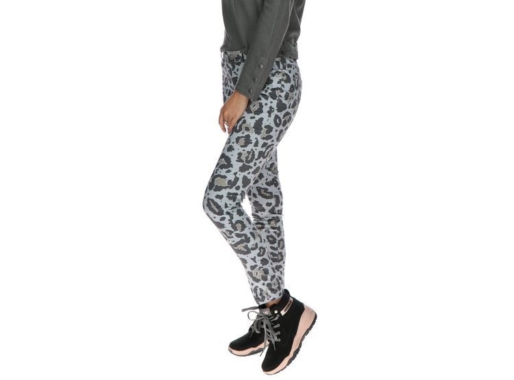 Ripley Pantalon Mujer Print Fashion Symbol Jegging Gris