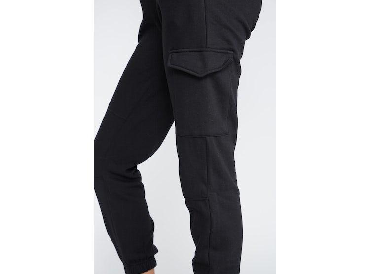 Ripley Pantalon Mujer Tipo Buzo Cargo Negro Sioux