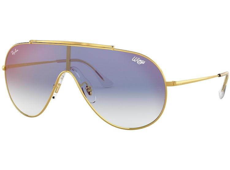 RAY-BAN. Lentes Ray Ban Originales 0RB3597 Dorado Oro - Azul Espejado 16ffa3f674