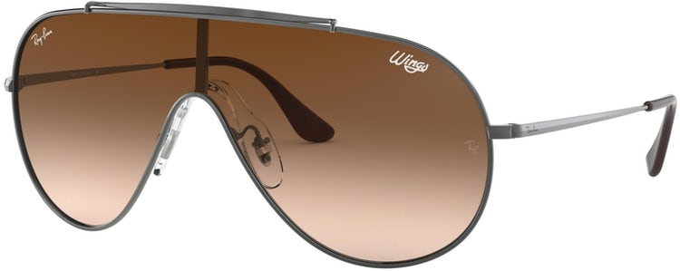 e3b7420e31e6a Lentes Ray Ban Originales 0RB3597 Plateado - Cafe Degradado