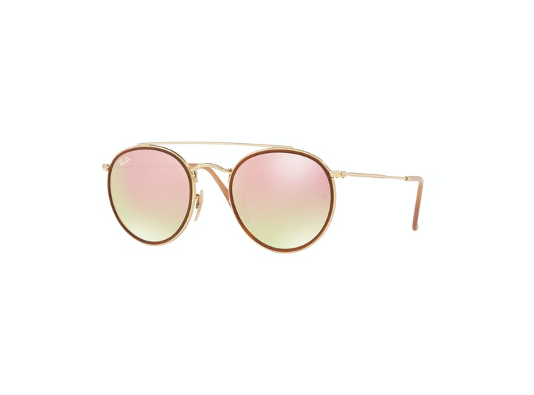 0d7c15fd22 Ripley - LENTES RAY BAN ORIGINALES ROUND DOUBLE PINK ORO RB3647N