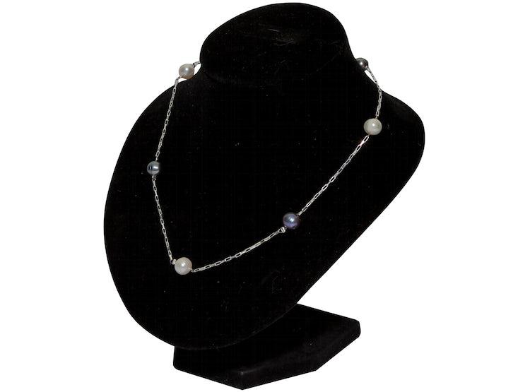 e87e32dbc4e1 PEGASI. Collar plata con perlas de rio