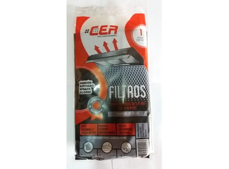 Ripley Filtro De Carbón Activado Para Campana De Platos De 60cm