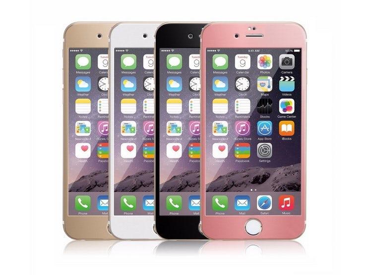 cd4edbe72 Set 4 Lamina De Vidrio Colores para Celulares Iphone 6/6s/7. En Promoción