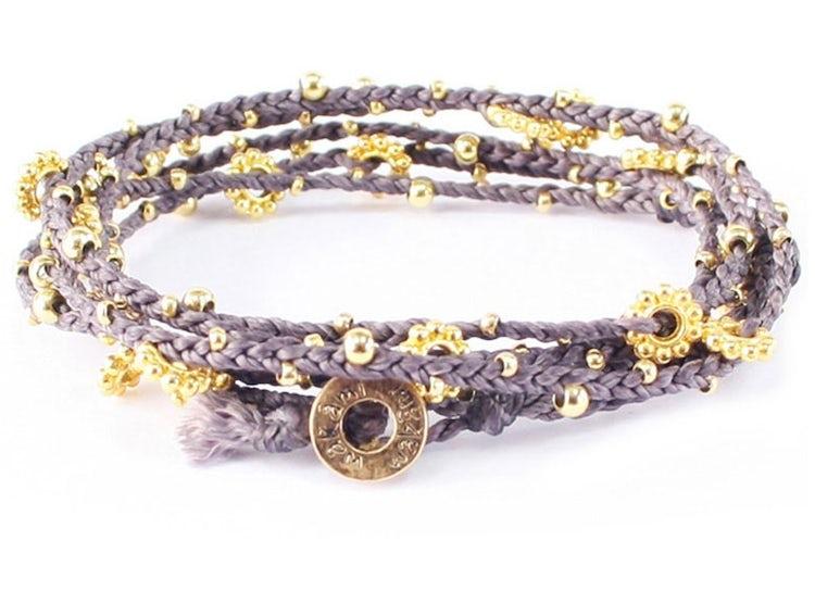 91a60cce57fa Ripley - Collar - pulsera tejida con mostacillas doradas