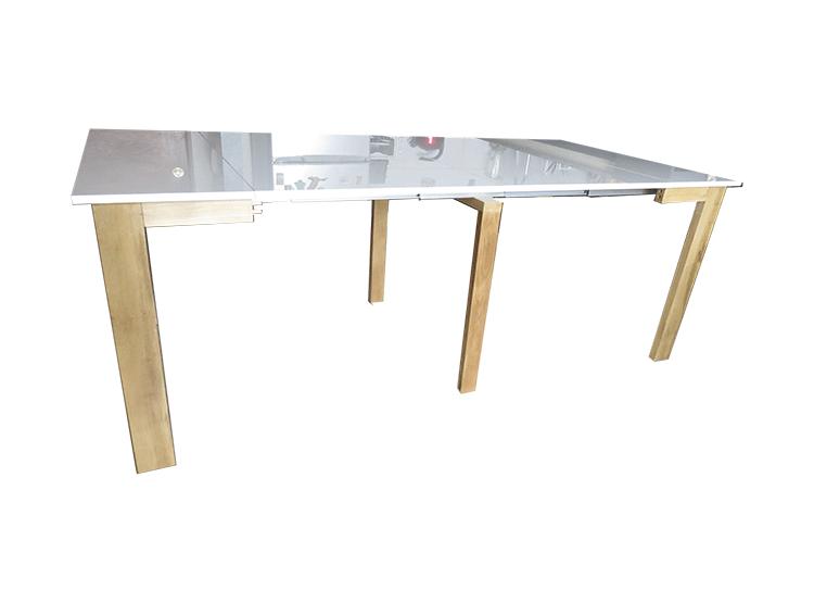 Mesa extensible blanco brillante madera