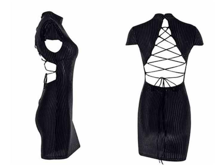 Vestido Corto Estilo Casual Color Negro