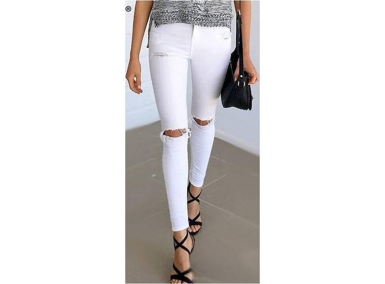 5a84f3c4a6cc7 Ripley - Pantalon Jeans Mujer Ajustado Color Blanco