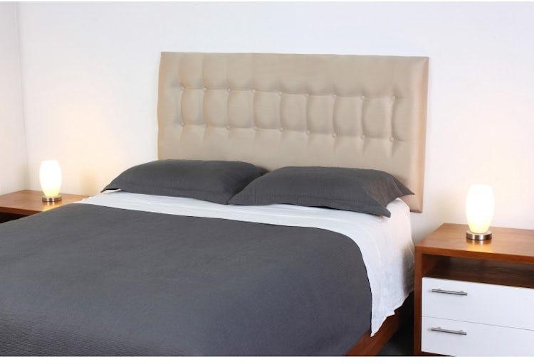 Ripley - Respaldo de cama 2 plazas Botone Biege