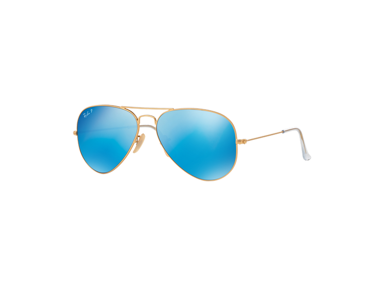 5dfa62a8c6 RAY-BAN. Ray Ban Aviador Matte Gold lente Blue Mirror Polarized
