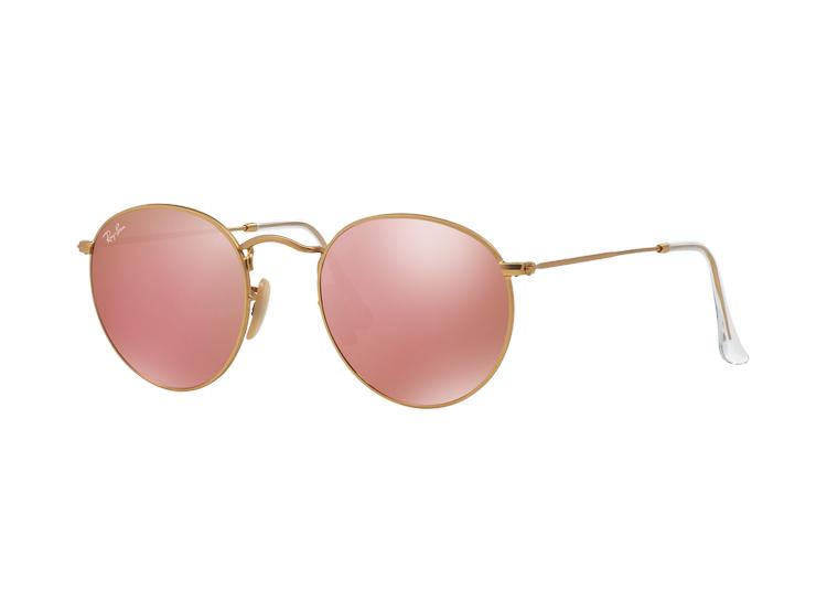 f2d53cf46c Ripley - Ray Ban Round Metal Matte Gold lente Brown Mirror Pink