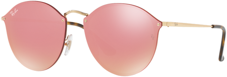RAY-BAN. Ray Ban Blaze Round Gold lente Pink Mirror ... 947cc1196532
