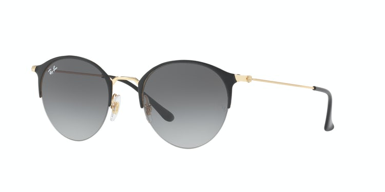 RAY-BAN. Ray Ban Round RB3578 Gold top shiny black lente Grey Gradient  Normal   119.900 ... e70575bc5482