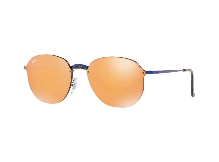 037199f1163de RAY-BAN. Ray Ban Blaze Hexagonal Blue lente Dark Orange Mirror Gold