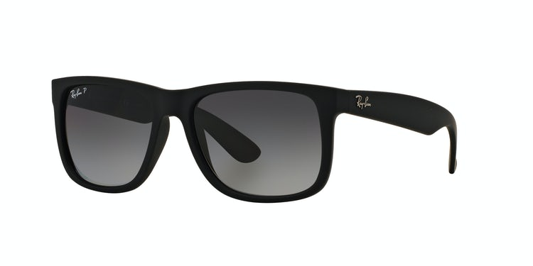 2aa815ffcc958f RAY-BAN. Ray Ban Justin Black Rubber lente Grey Gradient ...
