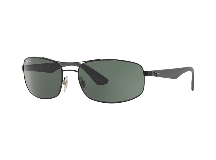 d291617eb RAY-BAN. Ray Ban Aerodinámico RB3527 Matte Black lente Green / Grey