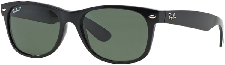 RAY-BAN. Ray Ban New Wayfarer Black lente Crystal Green Polarized ... c8c85d7f5012