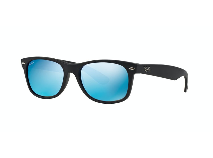 9a062885a3 RAY-BAN. Ray Ban New Wayfarer Rubber Black lente Blue Mirror