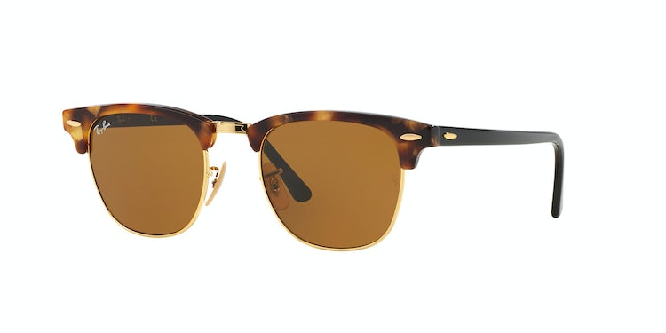 371f8a9ca191c RAY-BAN. Ray Ban Clubmaster Spotted Brown Havana lente ...
