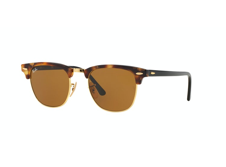 6768c9ef6d RAY-BAN. Ray Ban Clubmaster Spotted Brown Havana lente Brown