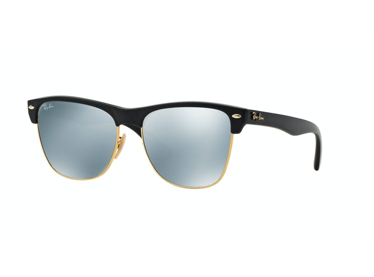 3b36d50a99 RAY-BAN. Ray Ban Clubmaster Oversized Shiny Black lente ...