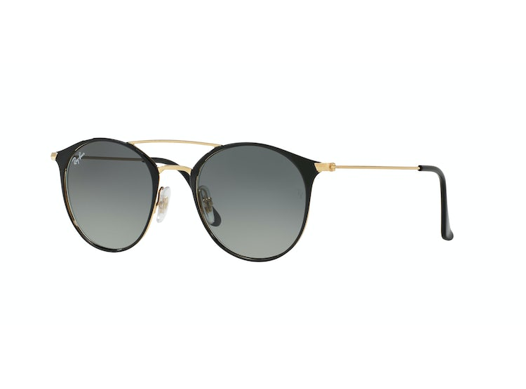 1e2055c23 RAY-BAN. Ray Ban Round RB3546 Gold Top Black lente Grey Gradient