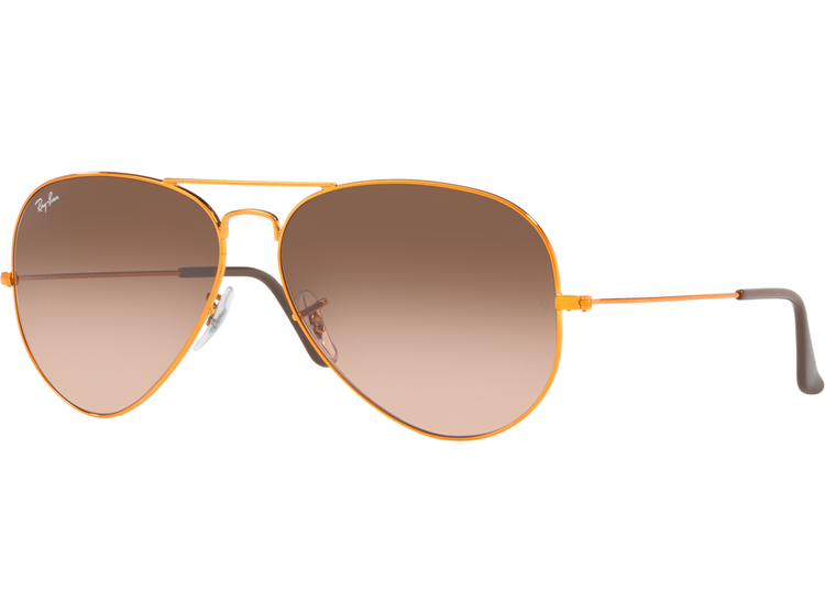 comprar baratas 15353 7b0f5 Ray Ban Aviador Shiny bronze lente Pink Gradient Brown
