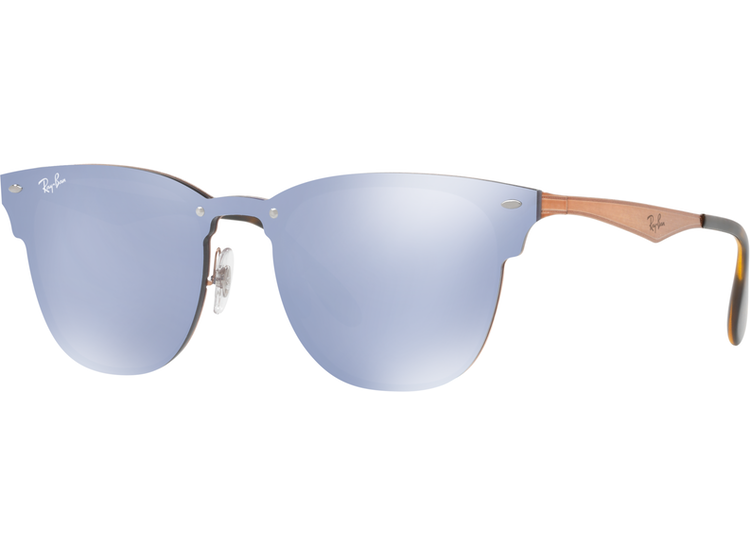 4ddb59baa52e7 Ray Ban Blaze Clubmaster Brusched Copper lente Blue   Silver Mirror