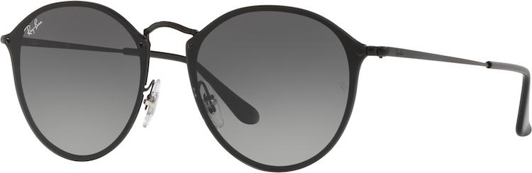 RAY-BAN. Ray Ban Blaze Round Black lente Dark Grey Gradient ... 82f410948e61