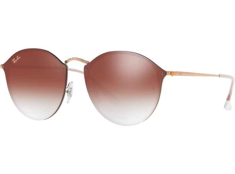 4879271f09423 Ripley - Ray Ban Blaze Round Copper lente Clear Gradient Red Mirror