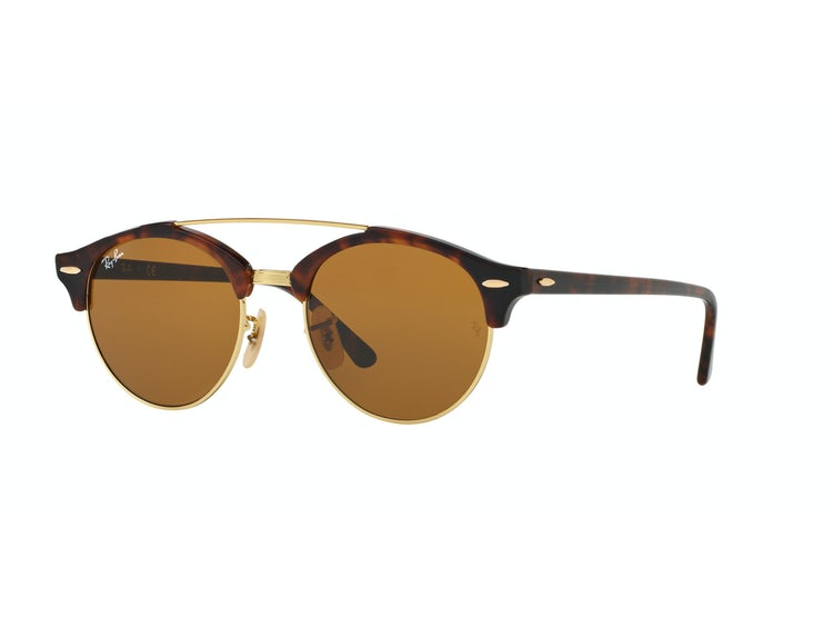 37263ec341244 RAY-BAN. Ray Ban Clubround Double Bridge Shiny red havana lente Brown
