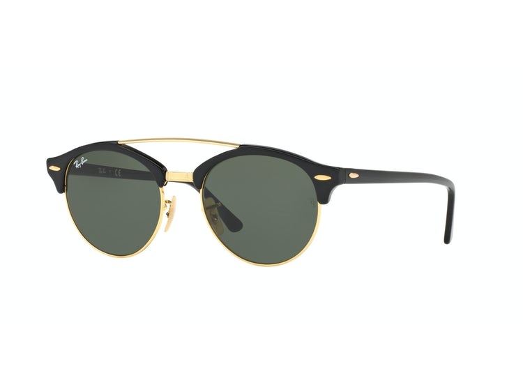 ee86e8481ed91 Ripley - Ray Ban Clubround Double Bridge Black lente Green