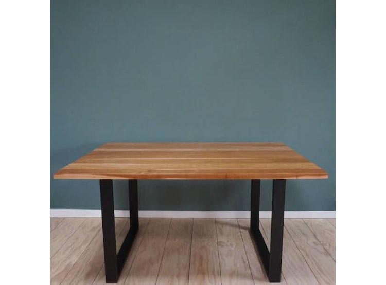 Ripley - Mesa comedor madera lenga y fierro 160x80   DE PIES A ...